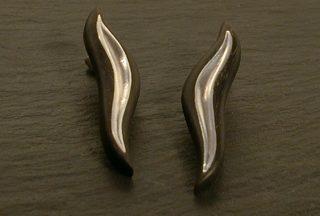 Boucles d'oreilles en ébène et argent